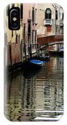 Calm Canal In Venice  IPhone Case