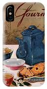 A Chinese Tea Pot With Tea And Cookies IPhone Case
