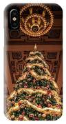A Christmas Tree At Union Station IPhone Case