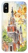 A Church In Our Street In Budapest IPhone Case