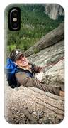 A Climber Reaches His Hand In A Crack IPhone Case