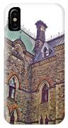 A Corner Of Parliament Building In Ottawa-on IPhone Case