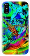 A Cosmic Dragonfly On A Psychedelic Rose IPhone Case