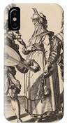 A Couple Addressed By A Lute Player IPhone Case