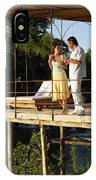 A Couple Having Drinks On A Deck IPhone Case