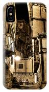 A Couple In A Little Restaurant In The Ancient City Of Albarracin IPhone Case
