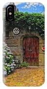 A Courtyard In Brittany France IPhone Case