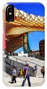 A Day At The Parasol Metropol IPhone Case