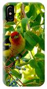 A Day With Mr. Tanager 9 IPhone Case