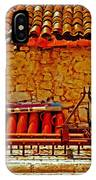 A Digitally Converted Painting Of Farm Machinery In A Turkish Village IPhone Case