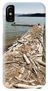 A Dock Covered With Driftwood IPhone Case