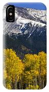 A Dusting Of Snow On The Peaks IPhone Case