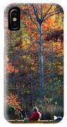 A Fall Fishing Trip IPhone Case