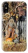 A Fall Scarecrow Display IPhone Case