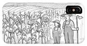 A Farmer And His Daughter Look At Cornstalks Who IPhone X Case