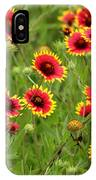 a field of Indian Blankets IPhone Case