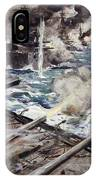A Fleet Of Battleships Firing IPhone Case