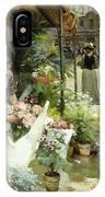 A Flower Market In Paris IPhone Case
