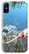 A Fly Fisherman Pulls A Fish IPhone Case