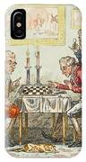 A Game Of Chess -  Two Wigged Gentlemen IPhone Case