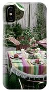 A Garden Set Up For Lunch IPhone Case