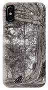 A Gentleman Sitting Beneath A Large Native Tree In British Ceylon IPhone Case