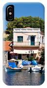 A Greek Island Harbor IPhone Case