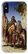 A Gypsy Family On The Road, C.1861 Oil On Canvas IPhone Case