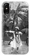 A Hawaiian Woman Dancing IPhone Case