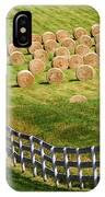 A Herd Of Hay Bales IPhone Case