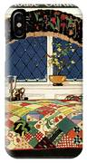 A House And Garden Cover Of A Four-poster Bed IPhone Case