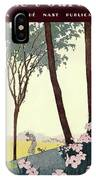 A House And Garden Cover Of A Rural Scene IPhone Case