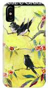 A House And Garden Cover Of Chickadees IPhone X Case