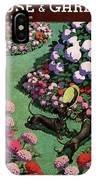 A House And Garden Cover Of Dachshunds With A Hat IPhone Case