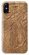 A King Carved In Wood IPhone Case