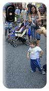 A Little Boy Dancing At The 200th Anniversary Of St. Patrick Old Cathedral IPhone Case