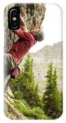 A Man Clinging To Rock Face In The IPhone Case