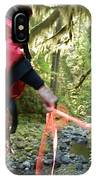 A Man Lowers A Rope For Canyoning IPhone Case