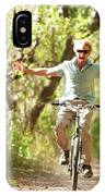 A Man Rides A Bicycle IPhone Case