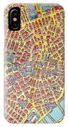 A Map Of Old Boston In The Commonwealth Of Massachusetts IPhone Case
