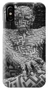 A Maze Ing Man 1 Black And White IPhone Case