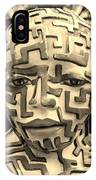 A Maze Ing Man 3 Sepia IPhone Case