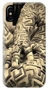 A Maze Ing Man 4 Sepia IPhone Case
