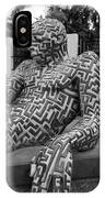 A Maze Ing Man 5 Black And White IPhone Case
