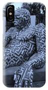 A Maze Ing Man 5 Cyan IPhone Case