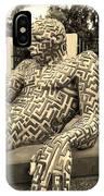A Maze Ing Man 5 Sepia IPhone Case