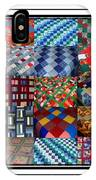 A Menagerie Of Colorful Quilts Triptych IPhone Case