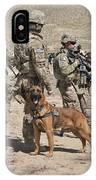 A Military Working Dog Accompanies U.s IPhone Case