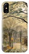A Moonlit Stroll Bonchurch Isle Of Wight IPhone Case