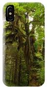 A Moss Covered Tree  In The Ho National Rain Forest IPhone Case